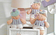 "Teddy bear knitting pattern 8.5"" tall 3 ply 602 Christmas gift"