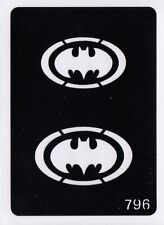 GT796 Body Art Temporary Glitter Tattoo Stencil Batman