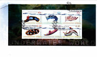 "2012 FDC Australia. Underwater World. Mini-sheet. Coral Pict.FDI  ""MOOLOOLABA"""