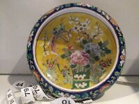 Antique 19/20C Nippon Japan Polychrome Bowl 7inch wide 2 inch high
