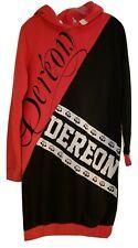 Dereon Fushia Black & White Knit Hoodie Dress