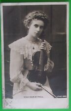 J BEAGLES & Co RP Postcard POSTED 1903 VIOLINIST MISS MARIE HALL