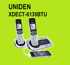 UNIDEN PREMIUM DECT 6135+1 DIGITAL CORDLESS PHONE SYSTEM WORKS IN BLACK