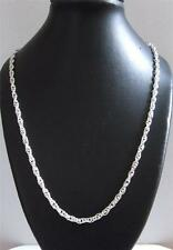 Solid Sterling Silver POW Rope Necklace Chain 28 In Long 9.3 Grams & Gift bag