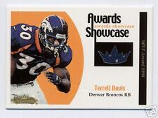 TERRELL DAVIS 2001 FLEER SHOWCASE  JERSEY CARD