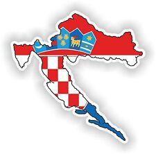 1x Adesivo Croazia mappa bandiera SILHOUETTE PARAURTI Vinile Decalcomania AUTO MOTO BICI NUOVO