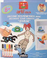 Décore tes Fenêtres avec Emma - 10 modèles - Peinture repositionnable