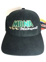 MBNA Motorsports Black FlexFit S / M Hat Cap NASCAR NWT Joe Gibbs Racing Sm/Med
