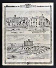 1875 Atlas Views Sigourney Court House Keokuk County Jail First District School