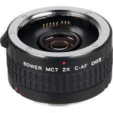 BOWER 2X C-AF MC7 Teleconverter tele-extender for Canon Rebel T4 T3 650D 550D T1