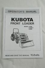 Kubota Operator's Manual Tractor Front End Loader FEL Model LA480 LA480-C LA680