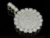 1.50Ct Round Cut Diamond Cluster Medallion Pendant Charm 14K Yellow Gold Finish