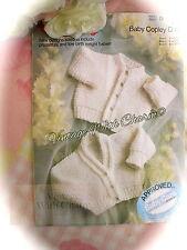 "Vintage Knitting Pattern Baby's ""Garter Stitch Cardigans"" . 3 Sizes JUST £1.79"