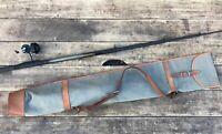 Sac étuis fourreau canne à pèche toile et cuir  Original canvas fishing rod bag