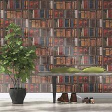 Wallpaper Rasch - Luxury Library Bookcase / Vintage Bookshelf - Multi - 934809