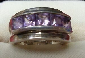 STERLING SILVER RING WITH INLAYS SIZE 5 3/4 – #21-A1024