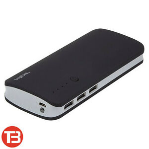 LogiLink Mobiler Zusatzakku Akku Power Bank 10000mAh iOS Android Black [PA0145]