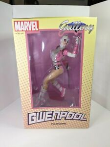 """Marvel GWENPOOL Diamond Select Gallery 9"""" inch statue (opened) FREE SHIPPING"""