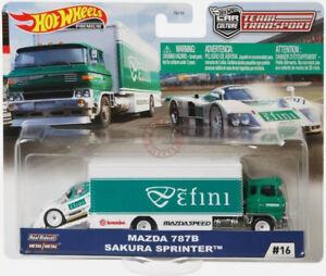 Hot Wheels TEAM TRANSPORT Mix J #16 MAZDA 787B & SAKURA SPRINTER EFINI