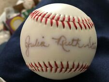 JULIA RUTH STEVENS BABE RUTH'S  DAUGHTER  YANKEES AUTOGRAPH SIGNED BASEBALL