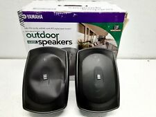 DEFECT - Yamaha 5in Outdoor Speakers Black (Pair) NS-AW190BL FOR PARTS