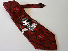 DISNEY MICKEY MOUSE NOVELTY NECK TIE RED CRUISE SAILOR CAPTAIN ADDICTION LTD