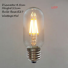 Vintage Edison Style LED 220V E27 4W Ceiling Light Bulb T45 Mini Short Tube Lamp