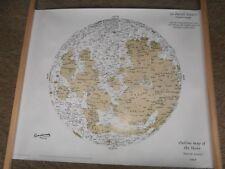 Patrick Moore astronomer huge hand signed moon map COA UACC & AFTAL Dealer