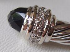$3550 DAVID YURMAN 18K WHITE GOLD ,SS DIAMOND BLACK ONYX BRACELET