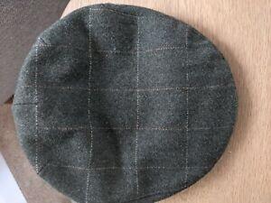Jack Murphy Mens Tweed Wool Hat / Flat Cap In Green Size M. 58cm.