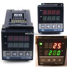 Controller Thermocouple REX-C100 Dual Digital PID Celsius Temperature Control N4