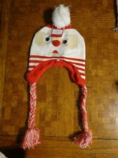 Santa Earflap/Laplander Hat with Googly Eyes * Holiday Time NWT