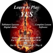 Yes Guitar TABS Lesson CD 65 Songs + Backing Tracks + BONUS!!