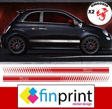 Fasce adesive Fiat 500 ABARTH 595 strisce laterali adesivi fiancate OMAGGIO
