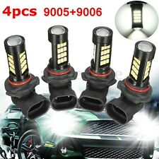 Combo 9005-HB3 9006-HB4 LED Headlight Bulb Super White 42-SMD 6000K H/L Beam US