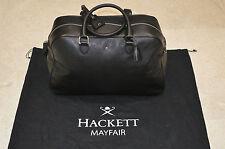Hackett Mayfair Carry-On Saffiano 100% cuir de vache noir Holdall sac homme nouveau