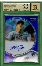2011 Bowman Sterling #19 MIKE TROUT PURPLE AUTO RC REFRACTOR 1/10 BGS 9.5 w/10