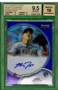 MIKE TROUT 2011 Bowman Sterling #19 PURPLE AUTO REFRACTORS #1/10 RC HIGHEST SUBS