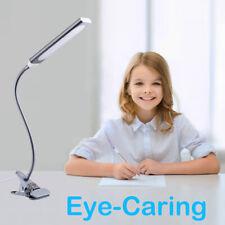 Clip-on Table Desk Lamp LED USB Flexible 3 Mode Reading Dimming Night Light