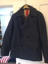 Burberry Men's Navy Peacoat Jacket Large