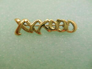 Tifany & Co Picasso 18K Gold Signature XO Hugs Kisses Brooch Pin Rare #'d, Pouch