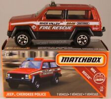 MATCHBOX POWER GRABS #51 Jeep Cherokee Police [Fire], 2019 issue (NEW in BOX)