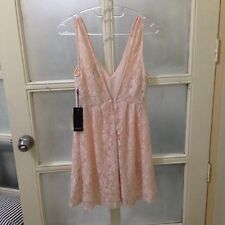 Forever 21 Peach Lace V Back Dress size Small