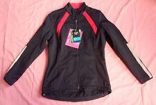 CRANE Women's Winter Cycling Jacket Slim Fit, Black/Red - UK 12 NEW