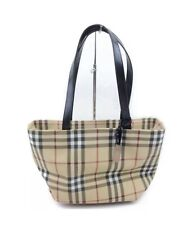 Burberry Tote Bag Beige PVC NOVA CHECK EXCELLENT CONDITION TAG