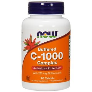 NOW Foods Vitamin C-1000 Complex, Buffered, 90 Tablets