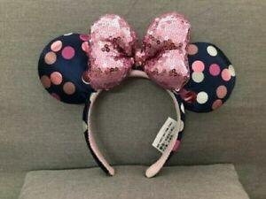 Disney Satin Polka Dot Minnie Headband Ears New