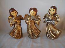 Vintage Christmas Golden Angels Made In Korea