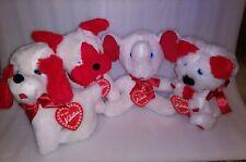 Vintage A&L Novelty Co Ny Stuffed Animal Lot dogs, elephant, koala Valentine Nos