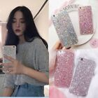 Soft Silicone Bling Glitter Shockproof Slim Case Cover For iPhone X 6S 7 8 Plus